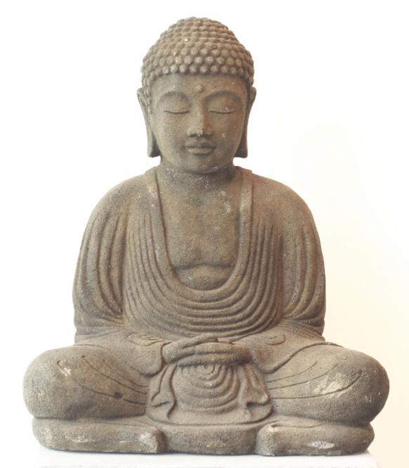 Japan Buddha meditierend, Steinguss, 40 cm