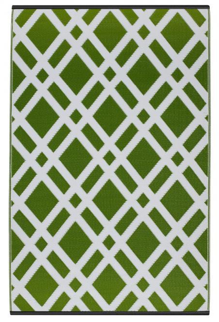 Teppich grün weiß  Garten im Quadrat | Outdoor-Teppich Dublin, grün-weiß, Rauten