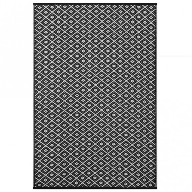 Outdoor-Teppich Arabien, schwarz-weiß