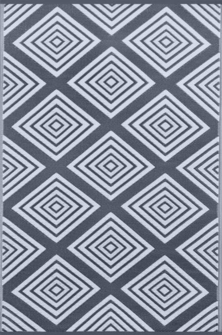 garten im quadrat outdoor teppich barcelona blaugrau wei l ufer. Black Bedroom Furniture Sets. Home Design Ideas