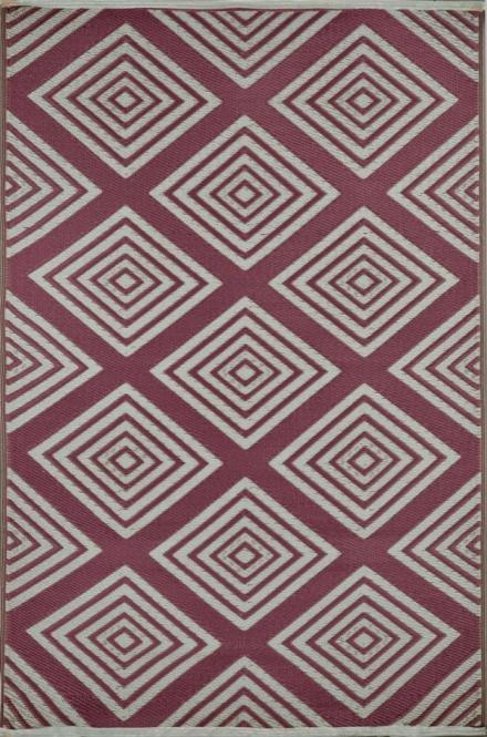garten im quadrat outdoor teppich barcelona rotbraun wei. Black Bedroom Furniture Sets. Home Design Ideas