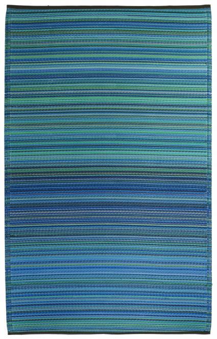 garten im quadrat outdoor teppich cancun streifen blau. Black Bedroom Furniture Sets. Home Design Ideas
