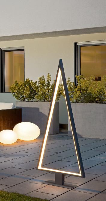 Moderne LED-Outdoor-Leuchte Tannenbaum
