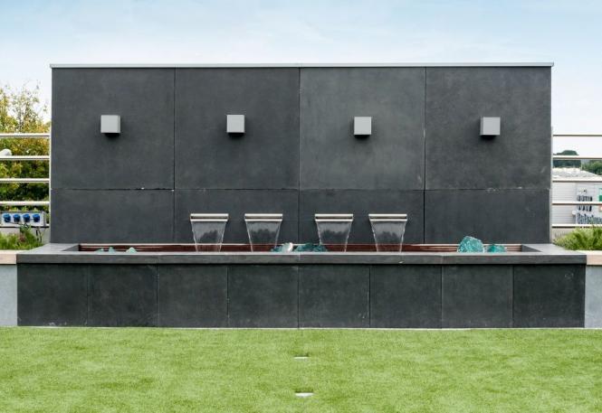 garten im quadrat sichtschutz wand aus fiberglas. Black Bedroom Furniture Sets. Home Design Ideas