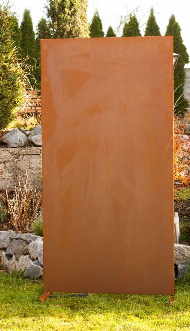 Garten im Quadrat | Moderne Sichtschutz-Wand blanko ...
