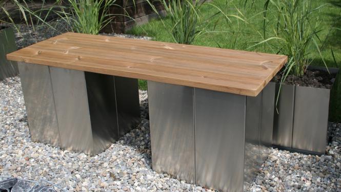 Gartenbank Holz Metall Modern sdatec.com