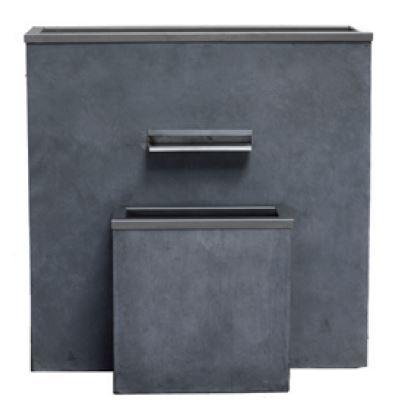 garten im quadrat puristischer gartenbrunnen komplett montiert kann mit sichtschutz element. Black Bedroom Furniture Sets. Home Design Ideas
