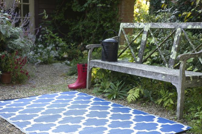Garten im Quadrat  OutdoorTeppich Tangier, blauweiße
