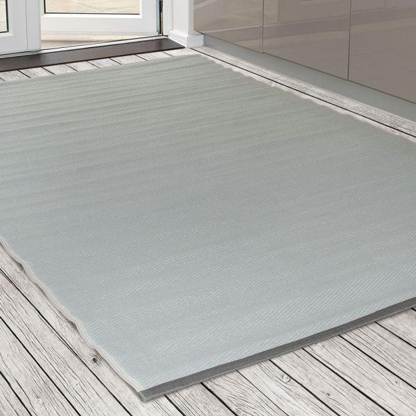garten im quadrat outdoor teppich pazifik helles grau uni terrasse. Black Bedroom Furniture Sets. Home Design Ideas