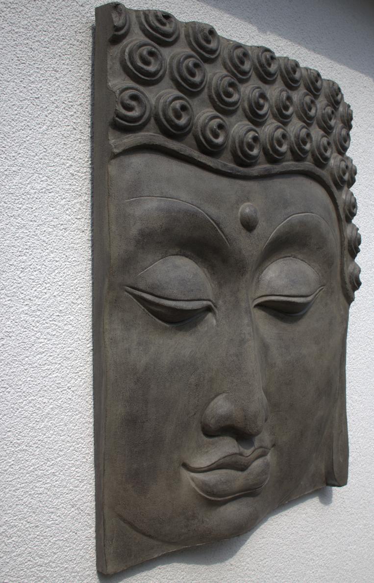 garten im quadrat buddha wandbild relief f r den garten zwei gr en. Black Bedroom Furniture Sets. Home Design Ideas