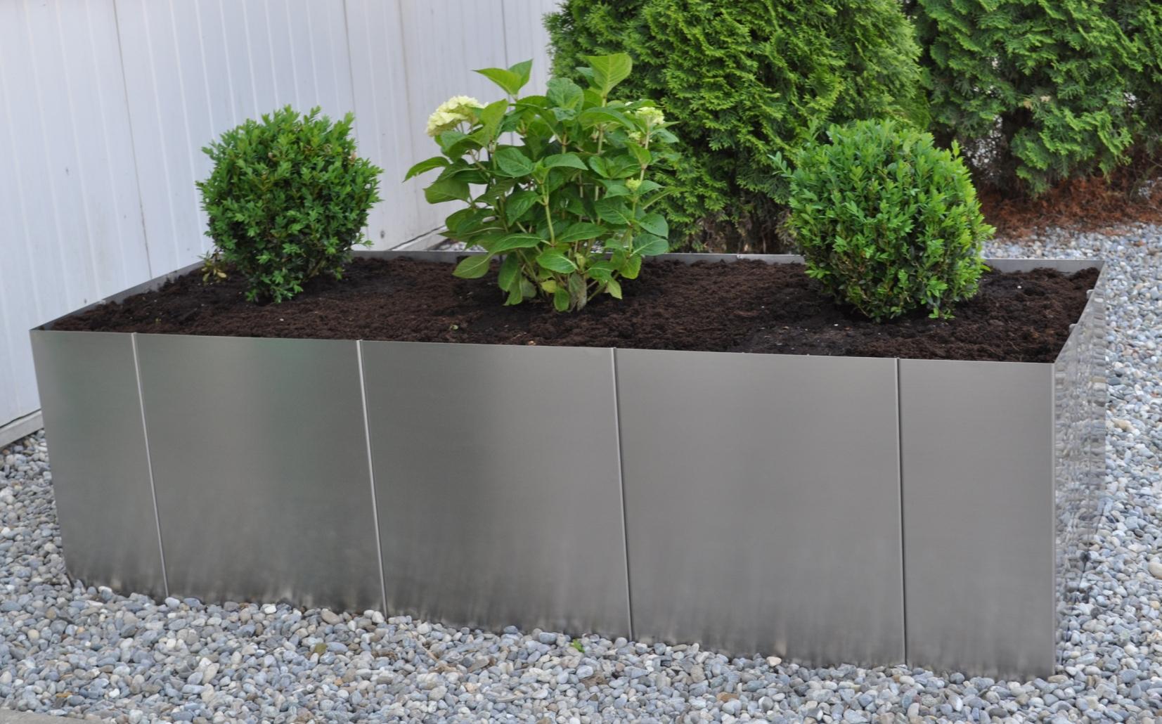 Garten im quadrat hochbeet square 160 edelstahl bausatz for Gartenbeet modern