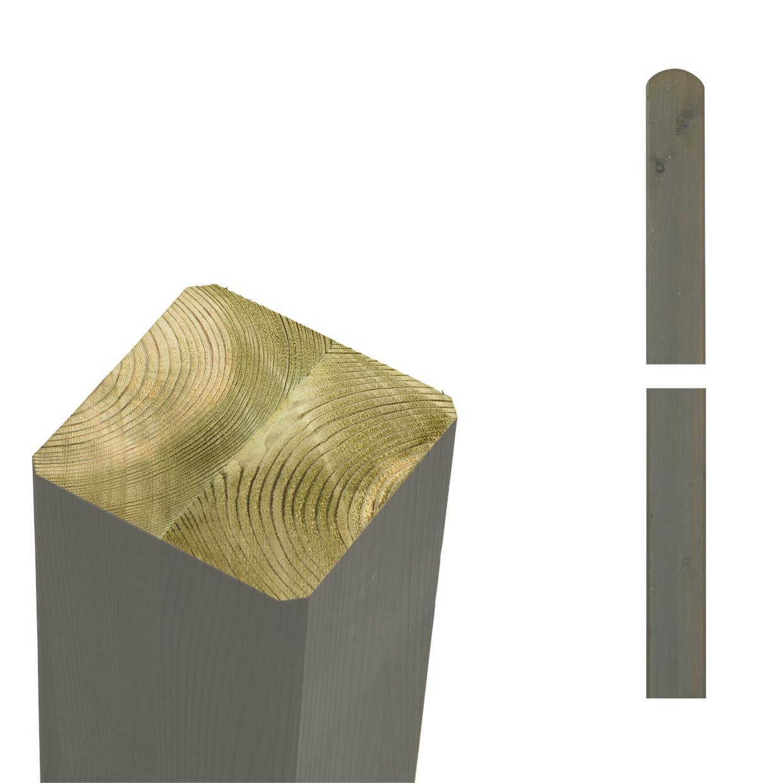 garten im quadrat pfosten holz graubraun lasiert f r. Black Bedroom Furniture Sets. Home Design Ideas