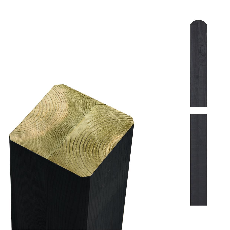 garten im quadrat pfosten holz schwarz lasiert f r sichtschutz und zaun cubic. Black Bedroom Furniture Sets. Home Design Ideas