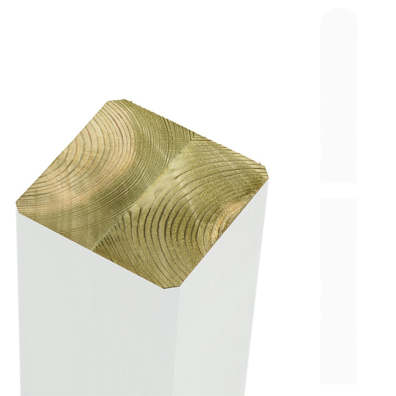 garten im quadrat pfosten holz wei lasiert f r sichtschutz und zaun cubic. Black Bedroom Furniture Sets. Home Design Ideas