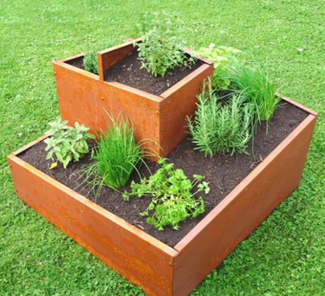 Garten Im Quadrat Krauterschnecke Krauterspirale Eckig Bausatz