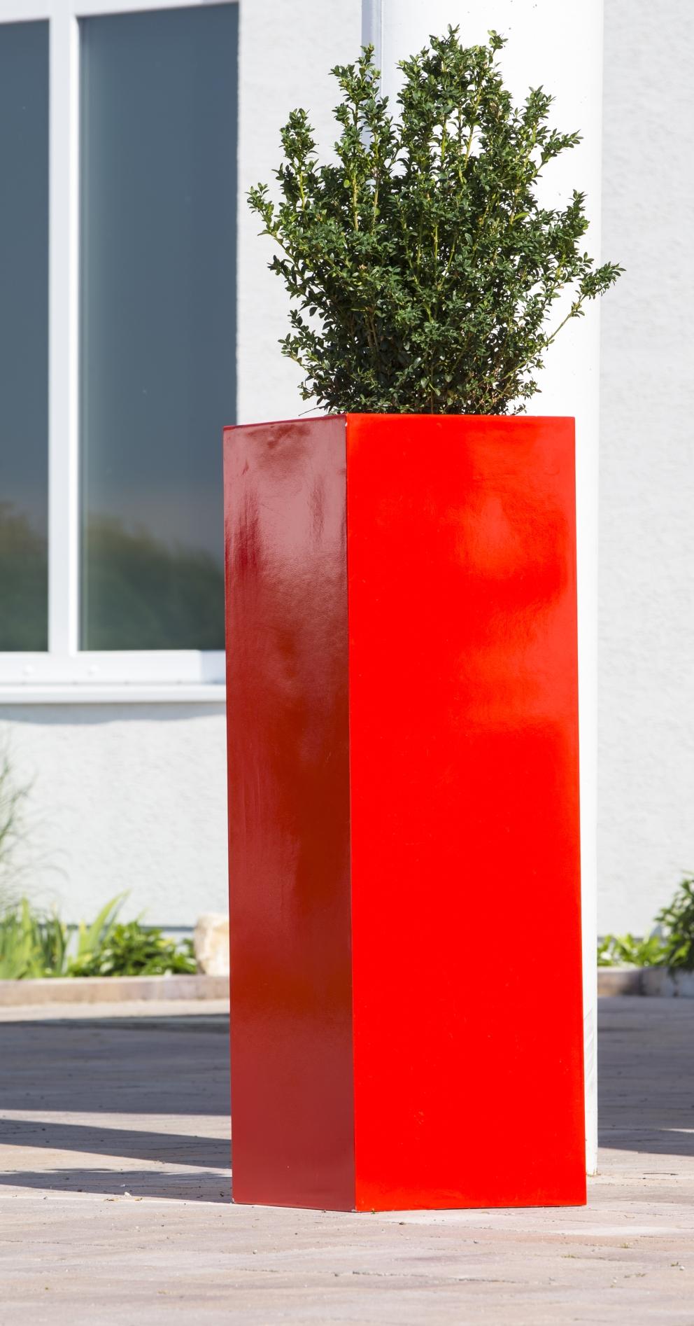 Großartig Ral Farben Rot Galerie Von Florum - Leichtes Pflanzgefäß Aus Fiberglas-kunststoff, In
