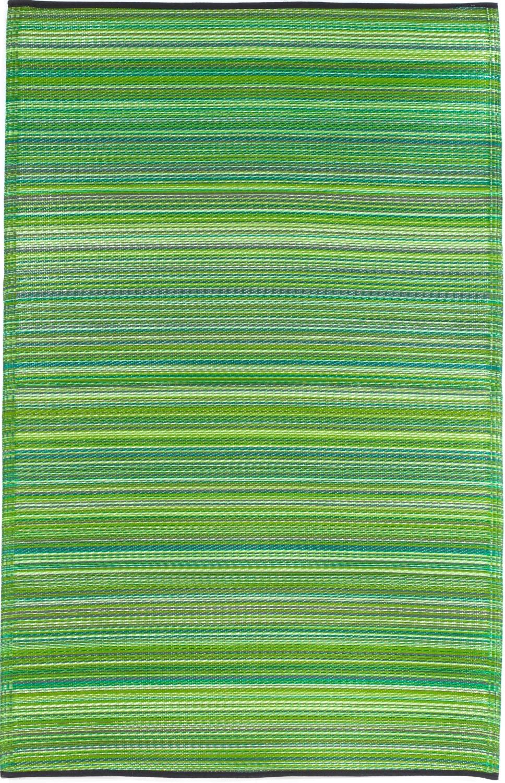 Garten im quadrat outdoor teppich cancun streifen grun for Balkon teppich mit versace tapete blau