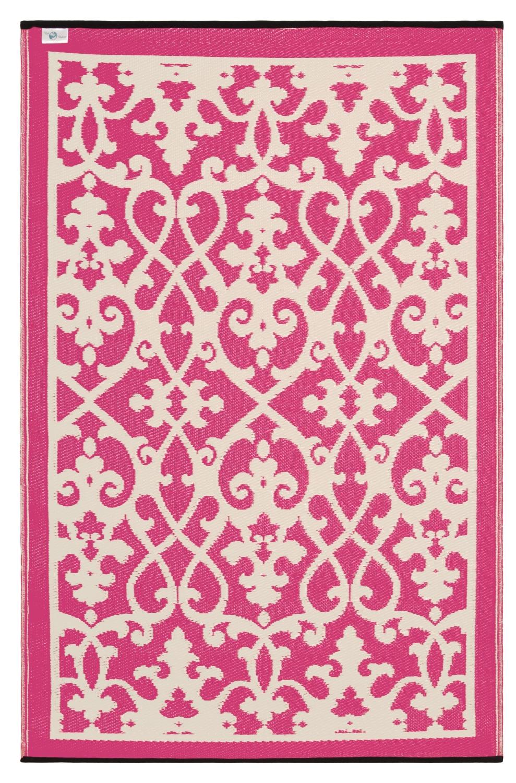 Innenarchitektur Plastikteppich Sammlung Von Outdoor-teppich Venedig, Ranken Pink-weiß