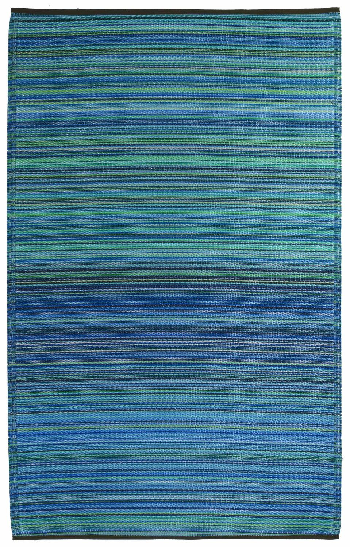 garten im quadrat outdoor teppich cancun streifen blau With balkon teppich mit tapete silber streifen