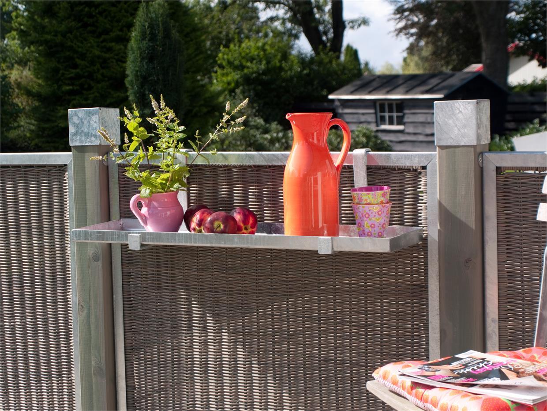 Garten Im Quadrat Sichtschutz Aus Rattan Cubic Zum Bau Einer