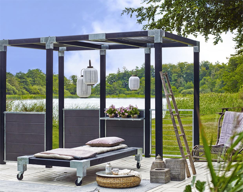Garten Im Quadrat Sichtschutz Aus Wpc Zum Bau Einer Sichtschutz