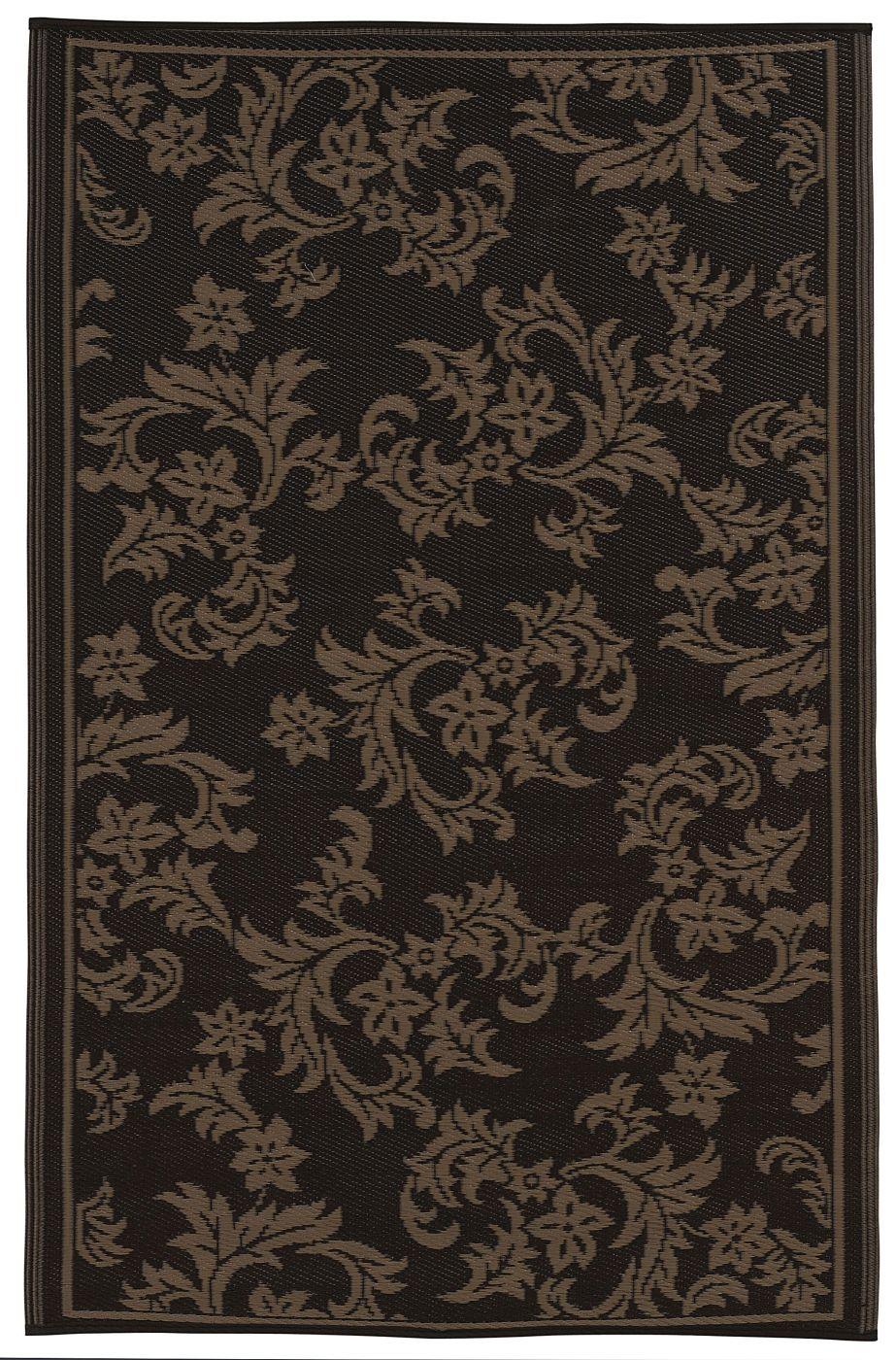 garten im quadrat outdoor teppich versailles rankenmuster in braun und beige. Black Bedroom Furniture Sets. Home Design Ideas