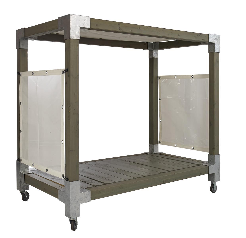 garten im quadrat | himmelbett cubic mit baldachin, gartenbett mit