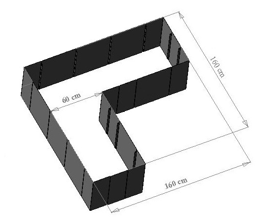 garten im quadrat hochbeet in l form corner 160. Black Bedroom Furniture Sets. Home Design Ideas