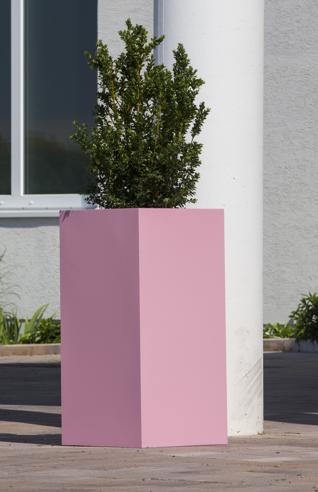 garten im quadrat florum leichtes pflanzgef aus fiberglas kunststoff in 213 ral farben. Black Bedroom Furniture Sets. Home Design Ideas