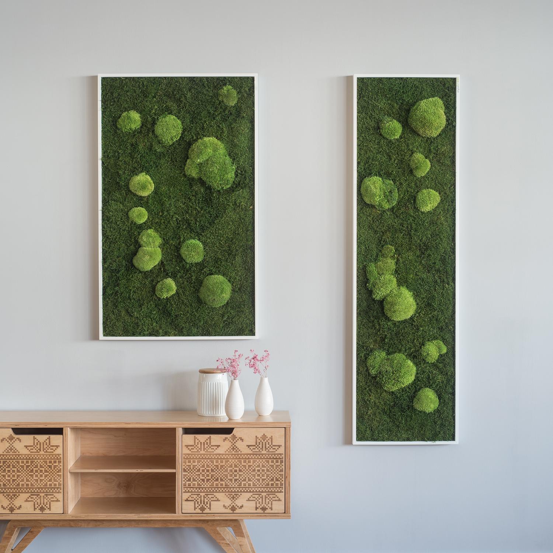 garten im quadrat stylegreen moosbild aus wald und. Black Bedroom Furniture Sets. Home Design Ideas