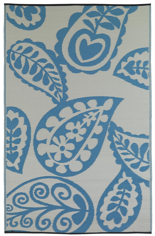 garten im quadrat outdoor teppich paisley t rkis wasserblau wei l ufer. Black Bedroom Furniture Sets. Home Design Ideas