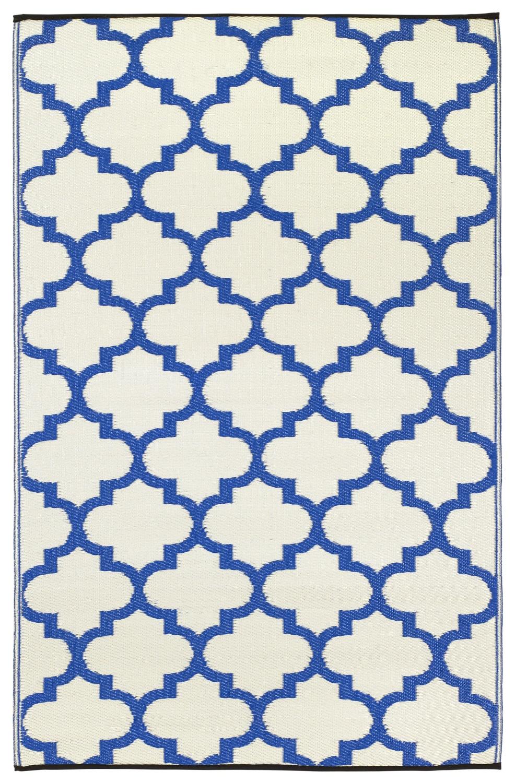 Garten Im Quadrat | Outdoor-teppich Tangier, Blau-weiße Ornamente Outdoor Teppiche Garten Balkon