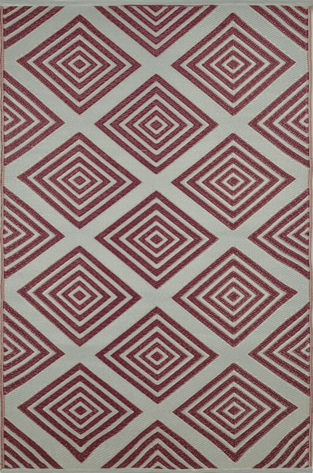 garten im quadrat outdoor teppich barcelona rotbraun wei l ufer. Black Bedroom Furniture Sets. Home Design Ideas