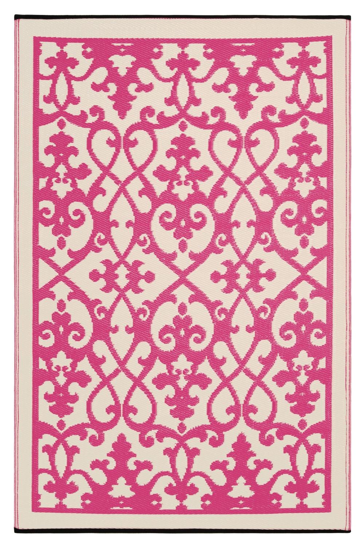 Fesselnde Plastikteppich Foto Von Outdoor-teppich Venedig, Ranken Pink-weiß