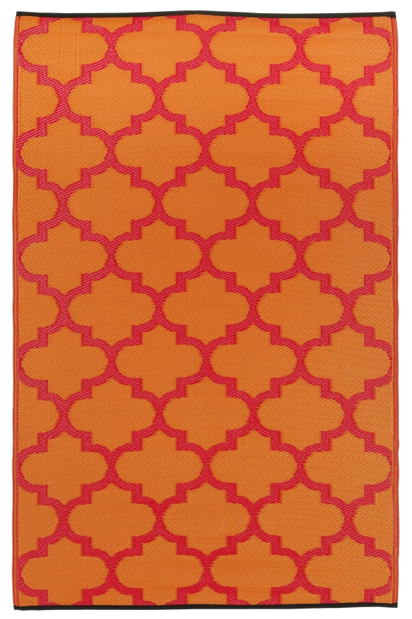 Garten im quadrat outdoor teppich tangier rot orange