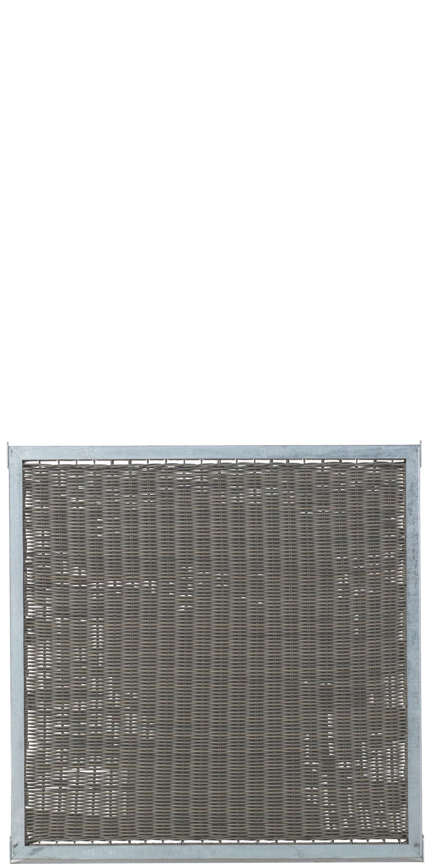 garten im quadrat sichtschutz aus rattan cubic zum bau. Black Bedroom Furniture Sets. Home Design Ideas