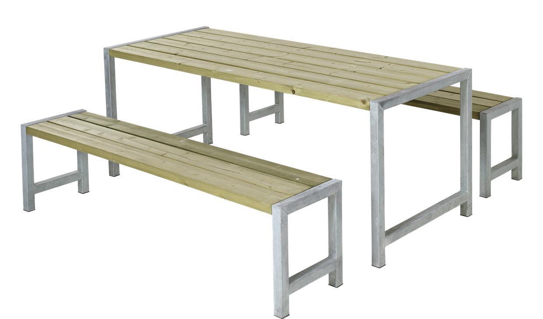 garten im quadrat moderne outdoor sitzgarnitur planken holz massiv naturfarben hnlich einer. Black Bedroom Furniture Sets. Home Design Ideas