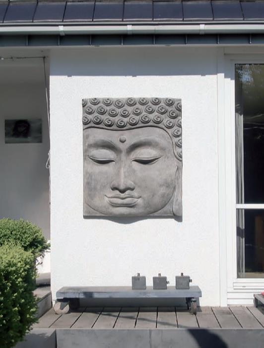 garten im quadrat buddha wandbild relief f r den. Black Bedroom Furniture Sets. Home Design Ideas