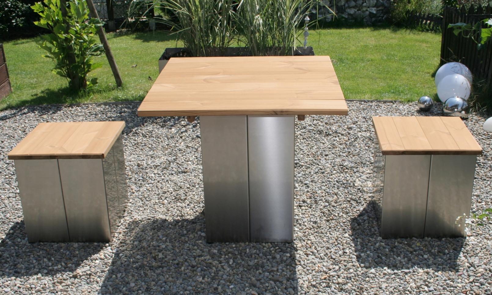 Free Gartentisch Aus Edelstahl Und Holz Modern Puristisch With Tisch Garten