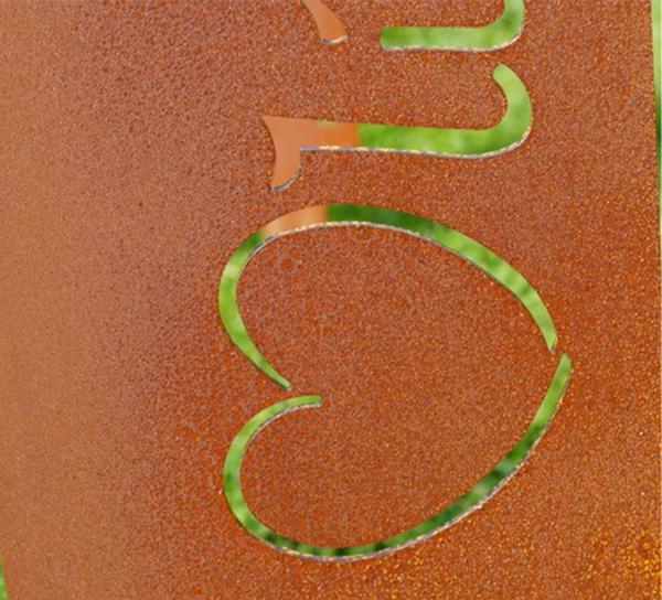 Garten Im Quadrat Gartenstele Stele Schild Für Garten Metall
