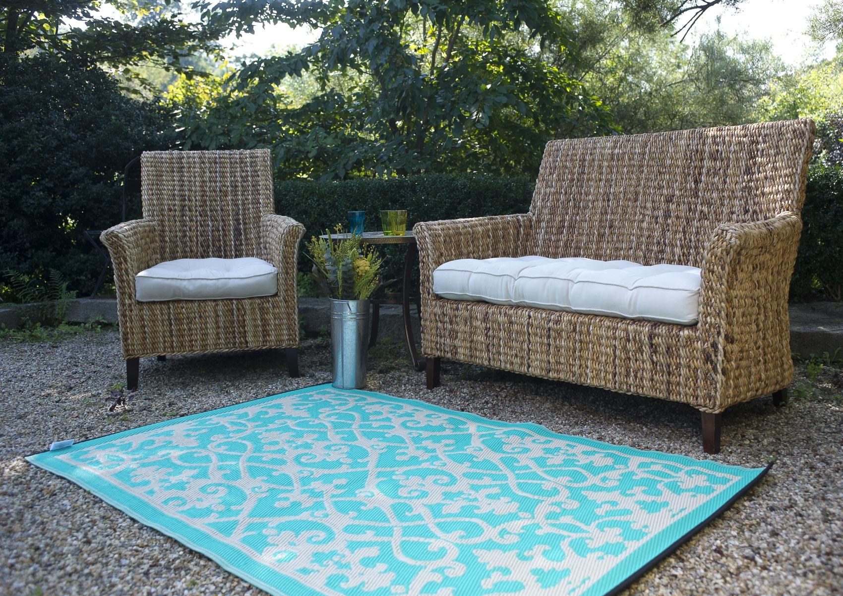 garten im quadrat outdoor teppich venedig ranken t rkis hellgr n cremewei. Black Bedroom Furniture Sets. Home Design Ideas