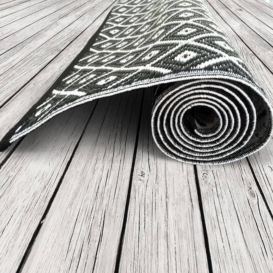 Outdoor Teppich Arabien, Schwarz Weiß