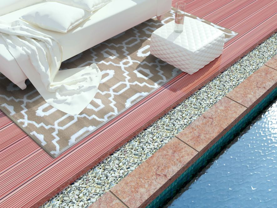garten im quadrat outdoor teppich sevilla grau braun taupe wei l ufer. Black Bedroom Furniture Sets. Home Design Ideas