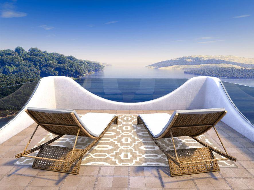 garten im quadrat outdoor teppich sevilla grau braun. Black Bedroom Furniture Sets. Home Design Ideas